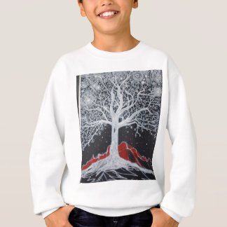 Glowing tree of life on a black background sweatshirt