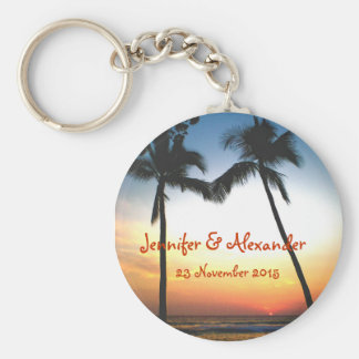 Glowing Tropical Sunset special  event Key Ring