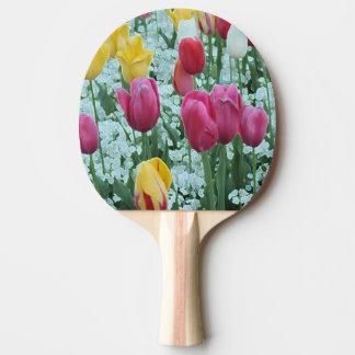 Glowing Tulip Garden Ping Pong Paddle