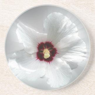 glowing white petals coaster
