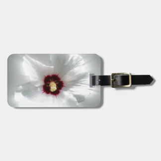 glowing white petals luggage tag