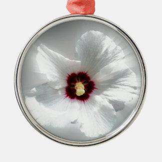 glowing white petals metal ornament