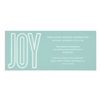 GLOWING WITH JOY   HOLIDAY PARTY INVITATIONS