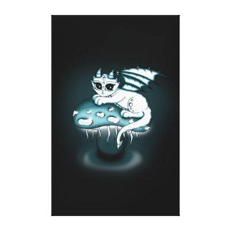 Glowy Dragon canvas Canvas Print