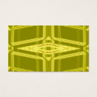 Glowy Eye - Weird Yellow Abstract Business Card