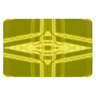 Glowy Eye - Weird Yellow Abstract Rectangular Photo Magnet