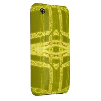 Glowy Eye - Weird Yellow Abstract iPhone 3 Case