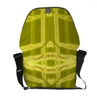 Glowy Eye - Weird Yellow Abstract Messenger Bags