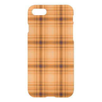 Glowy Look Copper Brown Plaid iPhone 7 Case