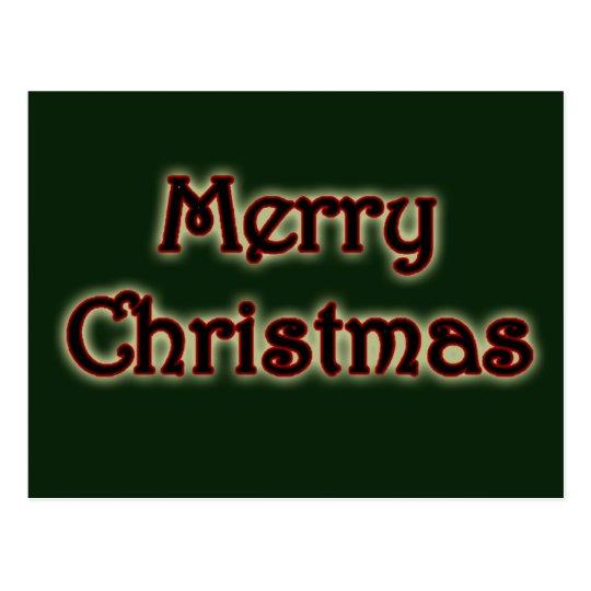 Glowy Merry Christmas Postcard