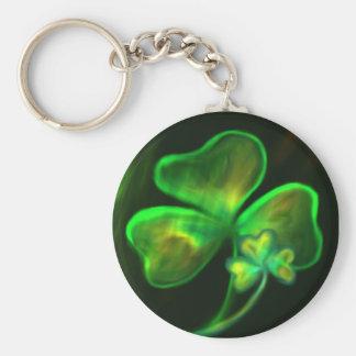 Glowy Shamrock Keychain