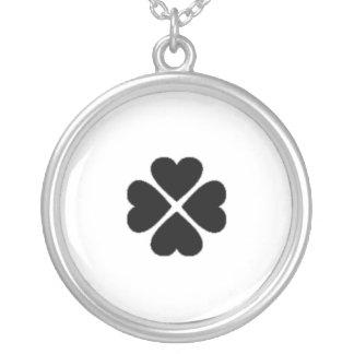 glücksbringer hearts clover sheet love dear turn o necklace
