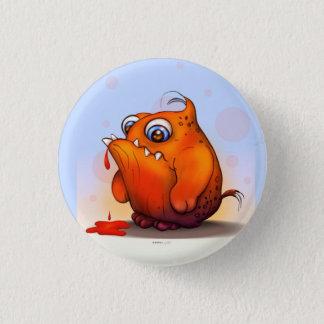GLUP ALIEN MONSTER CARTOON Round Button Small