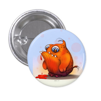 GLUP ALIEN MONSTER CARTOON Round Button Small