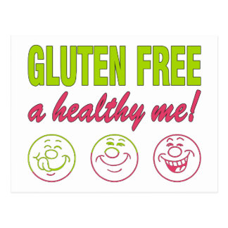 Gluten Free A Healthy Me! Gluten Allergy Celiac Postcard