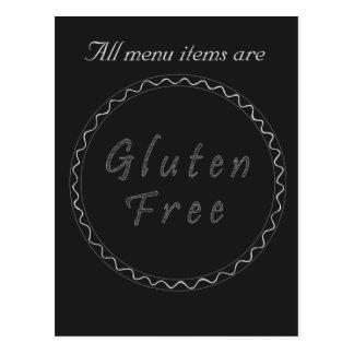 Gluten free chalkboard postcard