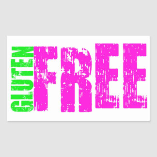 Gluten Free Cheerful Art Rectangular Sticker