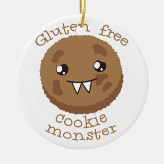 Gluten free cookie monster ceramic ornament