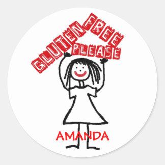 Gluten Free Daycare Safety Round Sticker