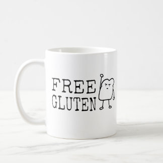 GLUTEN FREE Diet Humor Activist Satire Funny Quote Coffee Mug