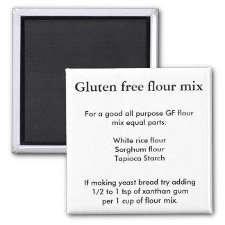 Gluten free flour mix square magnet