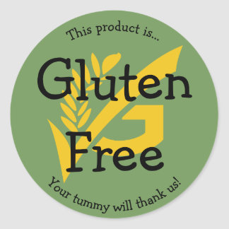 Gluten Free Food Label Sticker No Wheat Cute