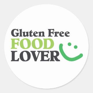 Gluten Free Food Lover items Classic Round Sticker