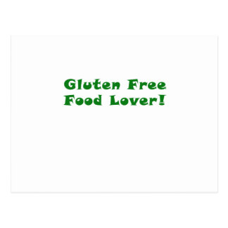 Gluten Free Food Lover Postcard