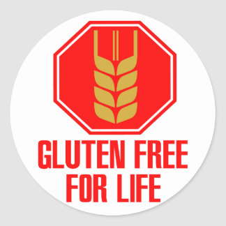 Gluten Free For Life Classic Round Sticker