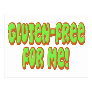 Gluten Free For Me Postcard