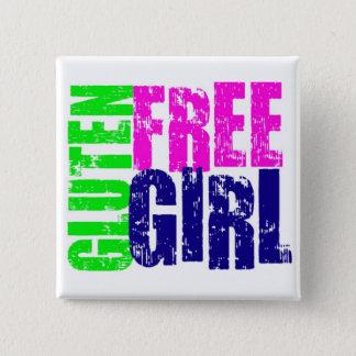 Gluten Free Girl Fun 15 Cm Square Badge