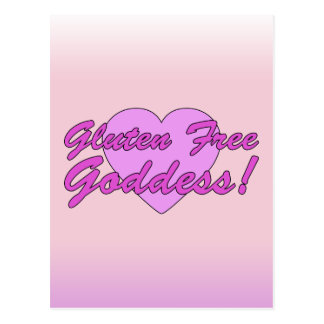 Gluten Free Goddess! Gluten Allergy Celiac Postcard