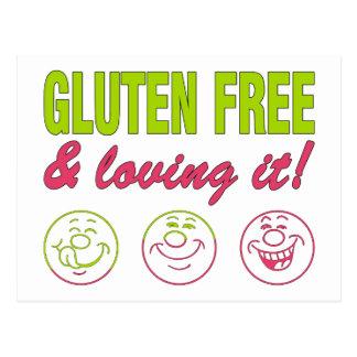 Gluten Free & Loving it! Gluten Allergy Celiac Postcard