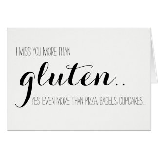 Gluten-Free Miss You Card