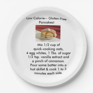 Gluten-Free Pancakes paper plates 9 Inch Paper Plate