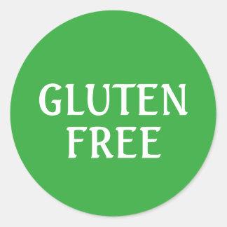 Gluten Free round Classic Round Sticker