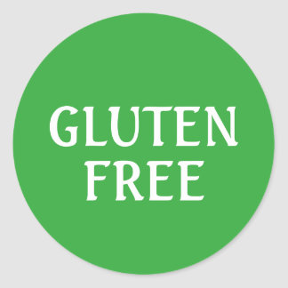 Gluten Free round Round Sticker