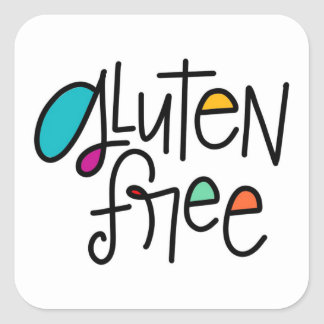 Gluten Free Square Sticker