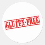 Gluten free stamp round sticker