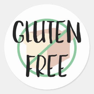 Gluten Free Symbol No Wheat or Bread Round Sticker