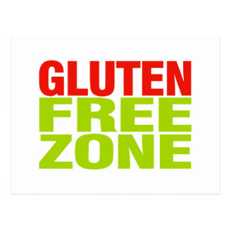 Gluten Free Zone (celiac disease) Postcard