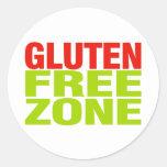 Gluten Free Zone (celiac disease) Round Sticker