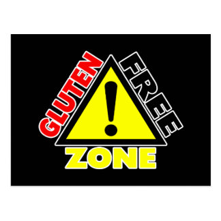 Gluten Free Zone (celiac disease - wheat allergy) Postcard