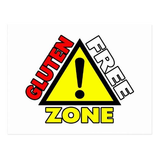 Gluten Free Zone (celiac disease - wheat allergy) Postcard