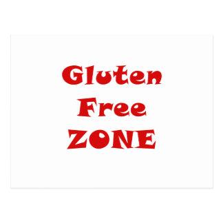 Gluten Free Zone Postcard