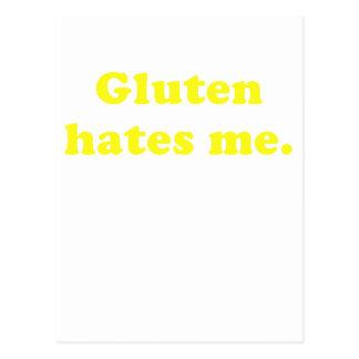 Gluten Hates Me Postcard