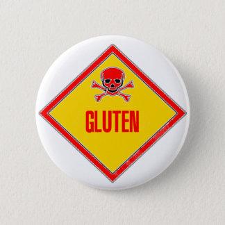 Gluten Poison Warning 6 Cm Round Badge