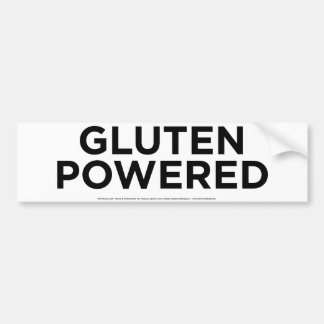 Gluten Powered Bumper Sticker
