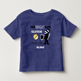 Gluten Slaying Knight Celiac Alert Toddler T-Shirt