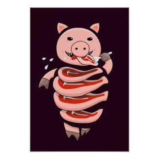 Gluttonous Cannibal Pig Poster